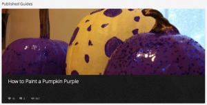 Snapguide: Paint a Pumpkin Purple