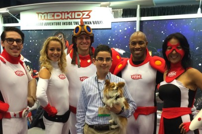 "Meet Joel and ""Flame"" the Medikidz wonder dog"