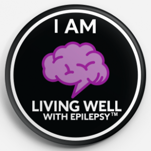 I Am Living Well With Epilepsy Button